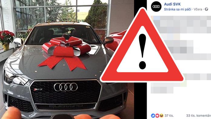 Podvodná súťaž o Audi RS7 valcuje internet: Nenechajte sa oklamať!