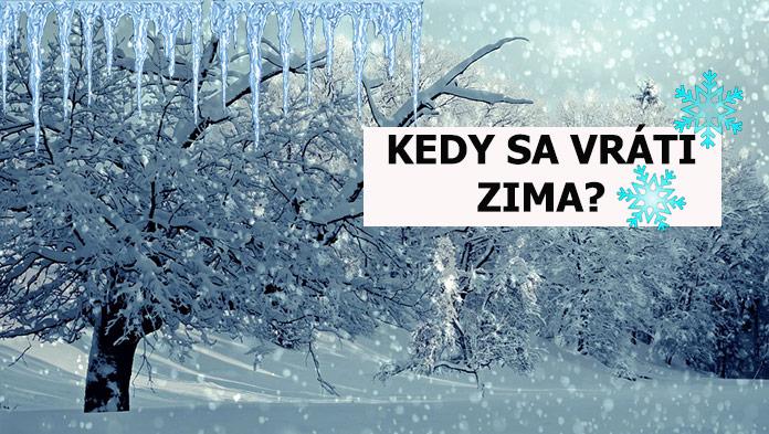 Po oteplení sa počasie opäť zmení. Kedy sa k nám vráti mrazivé zimné počasie?