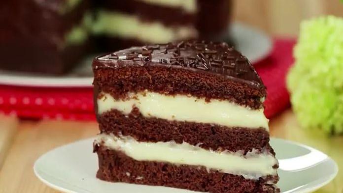 Jednoduchá čokoládová torta s korpusom bez vajec a fantastickým krémom
